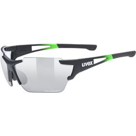 UVEX Sportstyle 803 Race Vario Glasses Small, black/green matt/silver